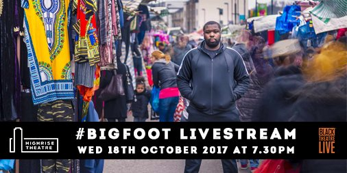 Big Foot livestream show Wed 18 Oct, 7,30pm